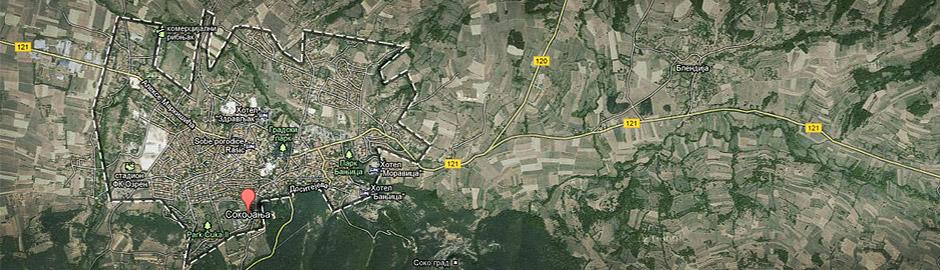 soko banja mapa Sokobanja Mapa opštine sa pretragom | Soko Banja Smeštaj soko banja mapa